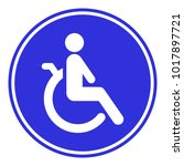 disabled person friendly sign.... | Shutterstock .eps vector #1017897721