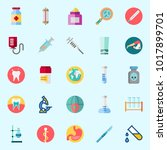 icons about medical with loupe  ... | Shutterstock .eps vector #1017899701