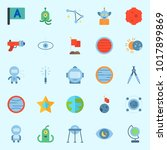 icons about universe with earth ... | Shutterstock .eps vector #1017899869
