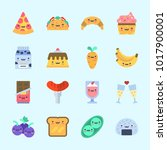 icons about food with toast ... | Shutterstock .eps vector #1017900001
