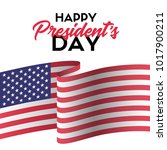 happy presidents day. vector... | Shutterstock .eps vector #1017900211
