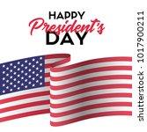 happy presidents day. vector... | Shutterstock .eps vector #1017900211
