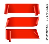 ribbons set. realistic red... | Shutterstock .eps vector #1017903331