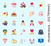 icons about wedding with...   Shutterstock .eps vector #1017904441