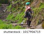 pokhara  nepal april 2015  ... | Shutterstock . vector #1017906715