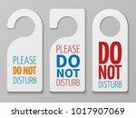 do not disturb room vector... | Shutterstock .eps vector #1017907069