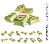 set of various kind of money.... | Shutterstock .eps vector #1017907474