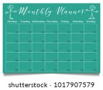 simple monthly planner template ...   Shutterstock .eps vector #1017907579
