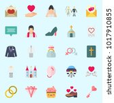 icons about wedding with high... | Shutterstock .eps vector #1017910855