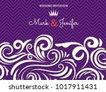 elegant wedding invitation card ... | Shutterstock .eps vector #1017911431