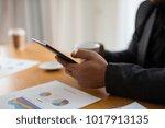 young businessman working... | Shutterstock . vector #1017913135
