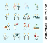 icons about human with... | Shutterstock .eps vector #1017916735