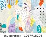 creative doodle art header with ... | Shutterstock .eps vector #1017918205
