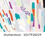 creative doodle art header with ... | Shutterstock .eps vector #1017918229