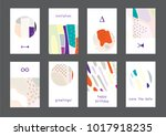 set of creative universal... | Shutterstock .eps vector #1017918235