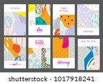 set of creative universal... | Shutterstock .eps vector #1017918241
