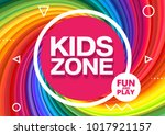 kids zone. children playground. ... | Shutterstock .eps vector #1017921157