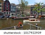 amsterdam  netherlands   july 7 ... | Shutterstock . vector #1017922939