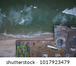aerial of seaside park new...   Shutterstock . vector #1017923479
