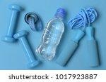 jump rope  water bottle ...   Shutterstock . vector #1017923887