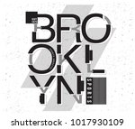 brooklyn sports graphic | Shutterstock .eps vector #1017930109