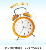 vector wake up message | Shutterstock .eps vector #101793391