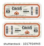 circus tickets front and back... | Shutterstock .eps vector #1017934945
