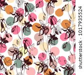 vintage seamless pattern with...   Shutterstock .eps vector #1017935524