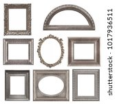 set of silver frames isolated... | Shutterstock . vector #1017936511