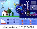 global warming infographic... | Shutterstock .eps vector #1017936601