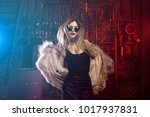 fashionable young woman in a... | Shutterstock . vector #1017937831