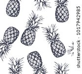 seamless pattern with... | Shutterstock .eps vector #1017942985