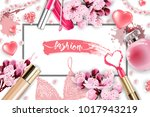cosmetics and fashion... | Shutterstock .eps vector #1017943219