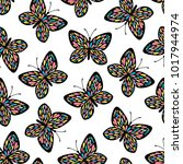 seamless pattern with...   Shutterstock .eps vector #1017944974
