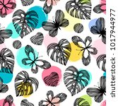 seamless pattern with...   Shutterstock .eps vector #1017944977