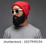 portrait of a bearded male... | Shutterstock . vector #1017945154