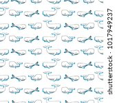 seamless vector pattern with... | Shutterstock .eps vector #1017949237