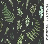 vector watercolor seamless... | Shutterstock .eps vector #1017950761