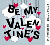 valentine day card background...   Shutterstock .eps vector #1017954115