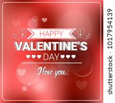 happy valentine day retro... | Shutterstock .eps vector #1017954139