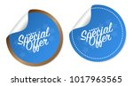 special offer stickers | Shutterstock .eps vector #1017963565