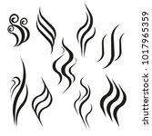 smell aroma and heat sign set....   Shutterstock .eps vector #1017965359