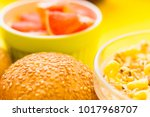 delicious breakfast  a bowl of... | Shutterstock . vector #1017968707