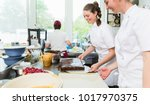confectioners or pastry makers... | Shutterstock . vector #1017970375