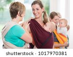 group of women learning how to... | Shutterstock . vector #1017970381