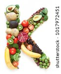 magnesium symbol k  made of... | Shutterstock . vector #1017972451