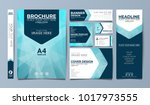 blue corporate identity set... | Shutterstock .eps vector #1017973555