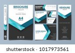 blue corporate identity set... | Shutterstock .eps vector #1017973561