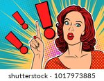 exclamation point and surprised ... | Shutterstock .eps vector #1017973885