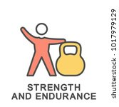 icon of strength and endurance. ... | Shutterstock .eps vector #1017979129